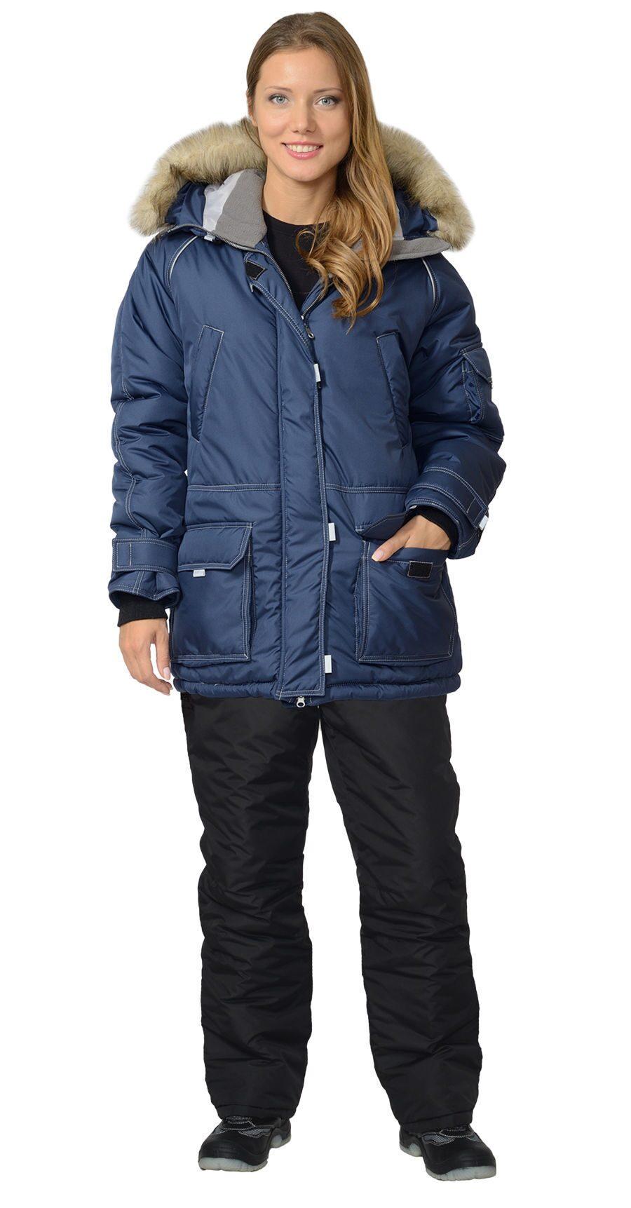 Женская Куртка Аляска Синяя Купить