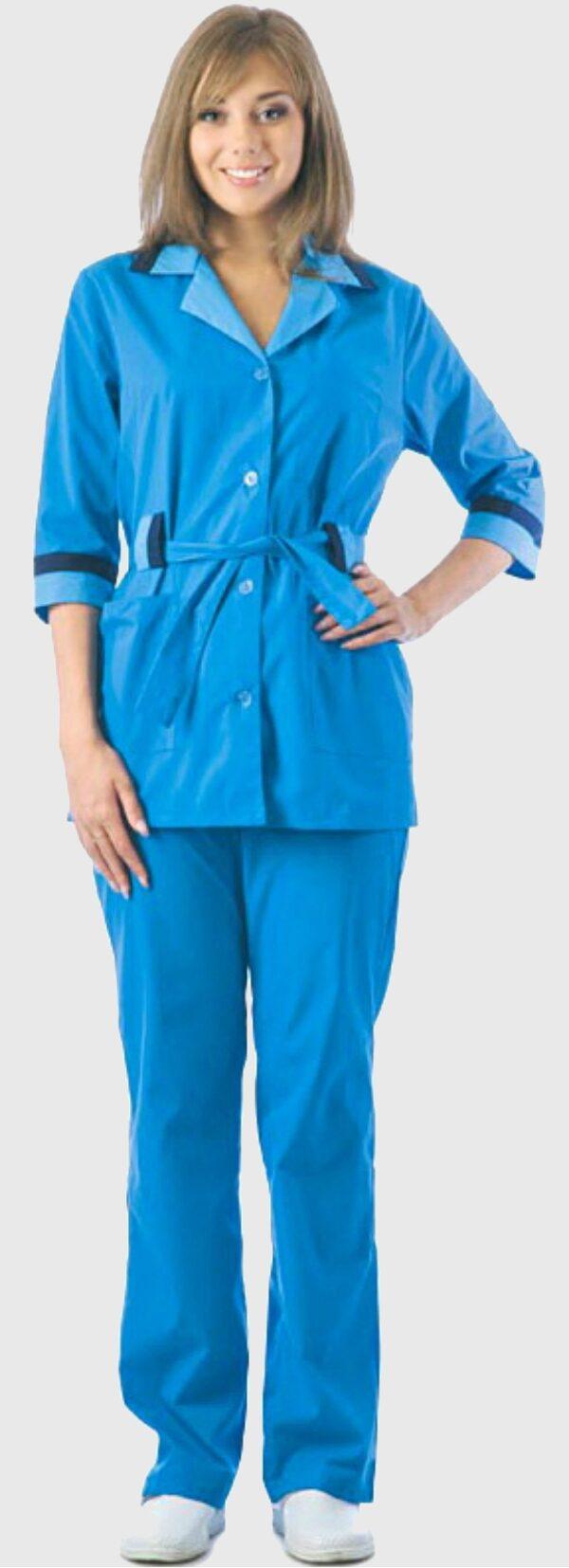Купить синий женский костюм доставка